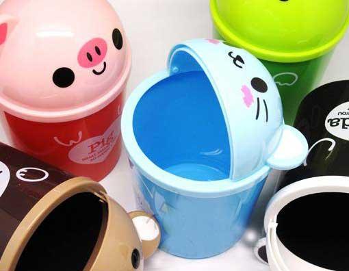 可爱的卡通形动物垃圾桶欣赏【图】