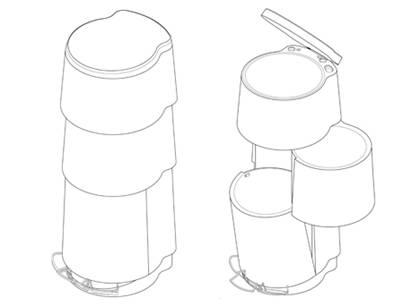 """节约空间的""""分类垃圾桶"""",你见过吗?图片"""
