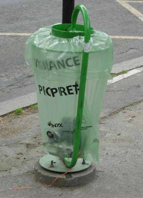 北京和巴黎的垃圾桶对比【图】
