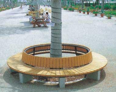 垃圾桶和园林椅的组合【图】