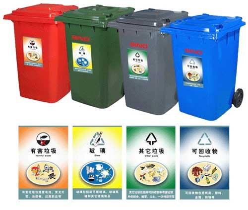 市民建议:分类垃圾桶标识应直观